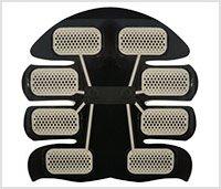 Achterkant van de 8 pad abs stimulator van WeightWorld