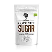 Witte hersluitbare verpakking met erin 400 gram kokosnoot suiker van Diet food
