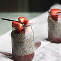 Chia pudding met aardbeien