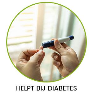 Cirkel met daarin twee handen die een insulinespuit vastheeft - diabetes