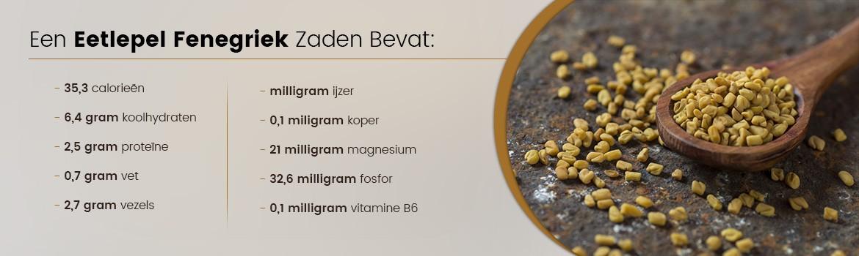 Eetlepel met fenegriek zaden - informatie over wat een zo'n lepel bevat