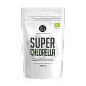 Witte verpakking met daarin 200 gram pure super Chlorella poeder van DietFood