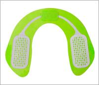 Heup trainer apparaat zonder de beschermhoes waardoor de groene kleur te zien is