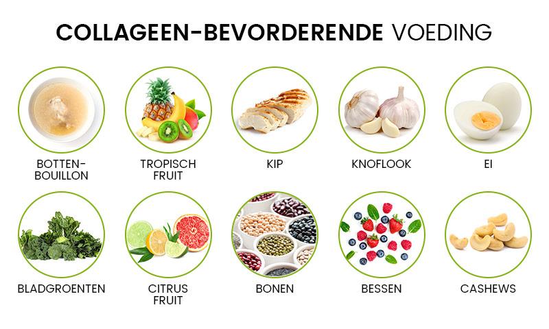 Infographic collageen - 10 verschillende soorten voeding dat je collageen een boost geeft
