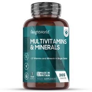 Multivitaminen & Mineralen 365 Tabletten | Natuurlijk Supplement Voor Je Gezondheid