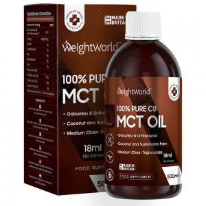 WeightWorld Pure C8 MCT Olie 500 ml