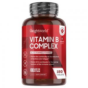 Vitamine B Complex | Voedingssupplement voor de normale werking van het immuunsysteem en om vermoeidheid tegen te gaan