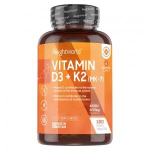 Vitamine D3 + K2-tabletten | Voedingssupplement voor het behoud van normale botten en de normale werking van je immuunsysteem